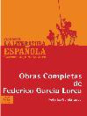 cover image of Obras Completas de Federico García Lorca