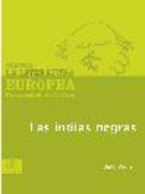 cover image of Las indias negras