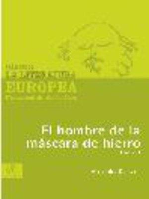 cover image of El hombre de la máscara de hierro, Tomo 1