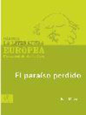 cover image of El paraíso perdido