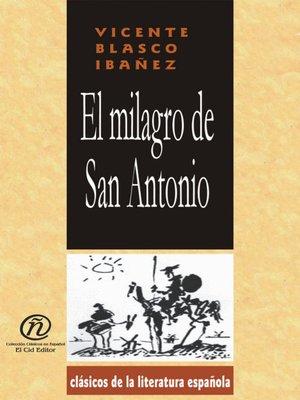 cover image of El milagro de San Antonio