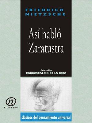 cover image of Así Habló Zaratustra