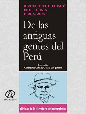 cover image of De las Antiguas Gentes del Perú