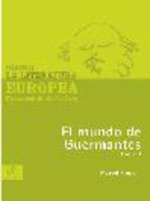 cover image of El mundo de Guermantes, Tomo 1
