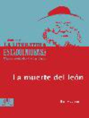 cover image of La muerte del león