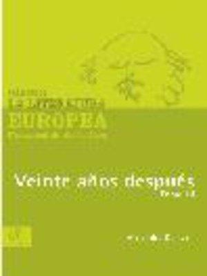 cover image of Veinte años después, Tomo 3