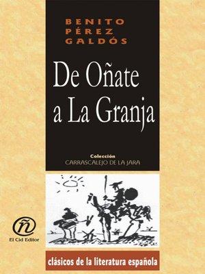 cover image of De Oñate a la Granja