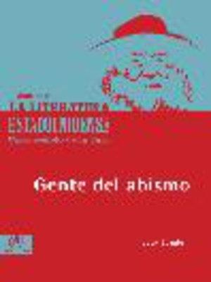 cover image of Gente del abismo