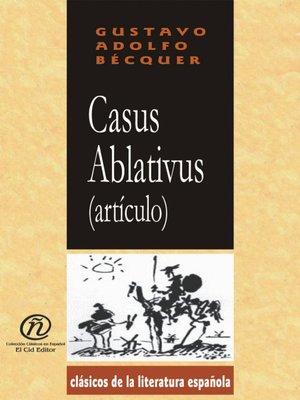 cover image of Casus Ablativus (Artículo)