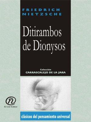 cover image of Ditirambos de Dionysos