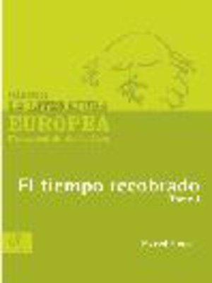 cover image of El tiempo recobrado, Tomo 1