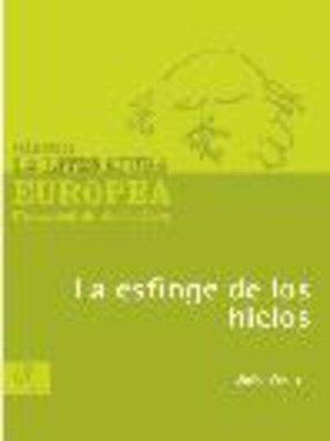cover image of La esfinge de los hielos