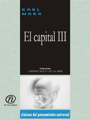 cover image of El capital, Tomo 3