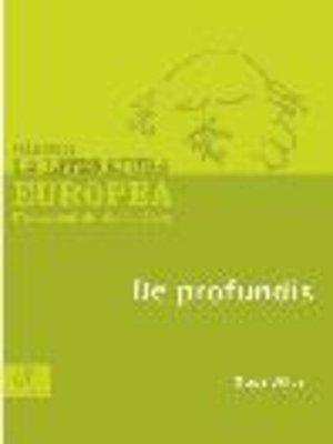 cover image of De profundis
