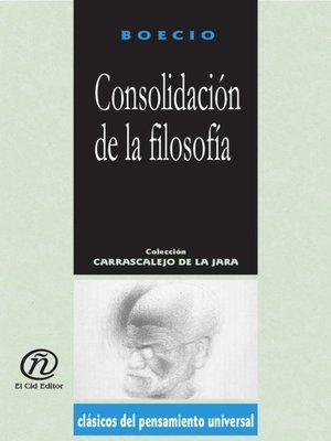 cover image of Consolidación de la Filosofía