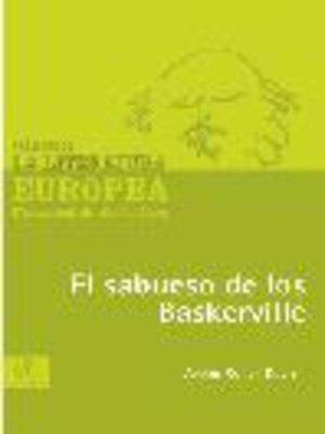 cover image of El sabueso de los Baskerville