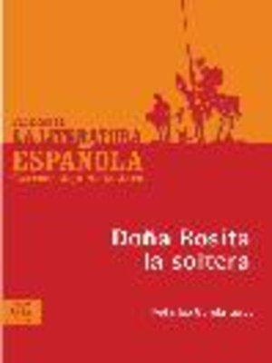 cover image of Doña Rosita la soltera