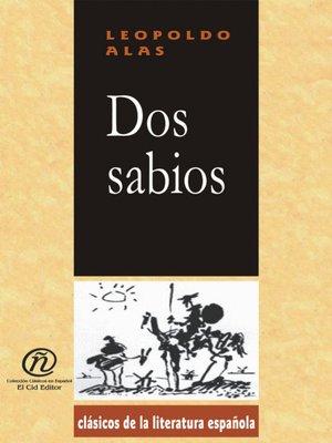 cover image of Dos sabios