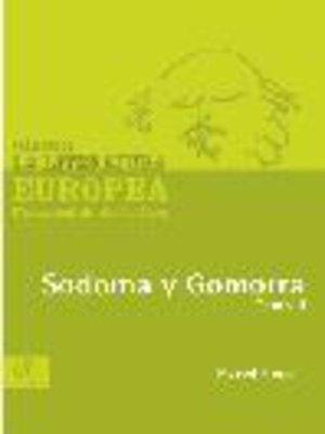 cover image of Sodoma y Gomorra, Tomo 2