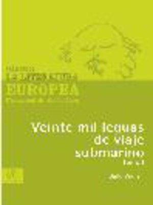 cover image of Veinte mil leguas de viaje submarino, Tomo 1