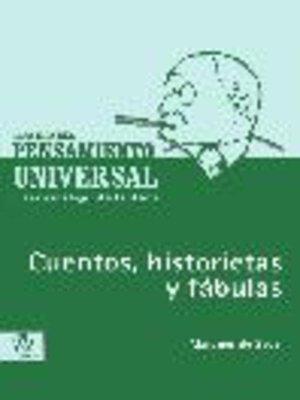 cover image of Cuentos, historietas y fábulas
