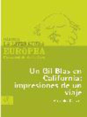 cover image of Un Gil Blas en California