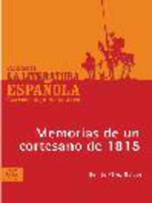 cover image of Memorias de un cortesano de 1815