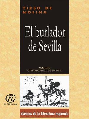 cover image of El burlador de Sevilla