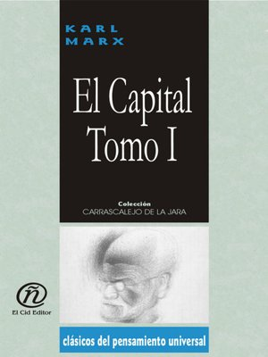 cover image of El capital, Tomo 1