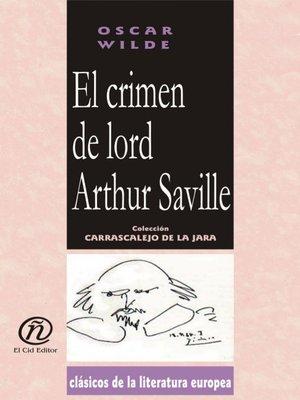 cover image of El crimen de lord Arthur Saville