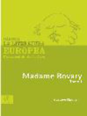 cover image of Madame Bovary, Tomo 1