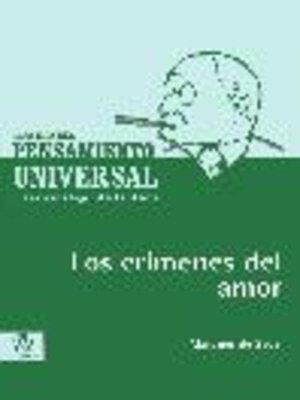 cover image of Los crímenes del amor