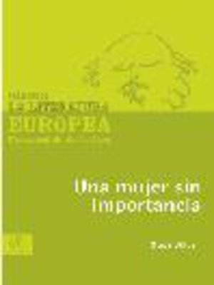 cover image of Una mujer sin importancia