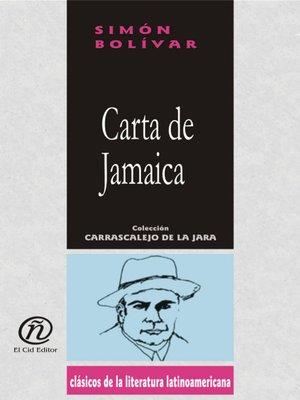 cover image of Carta de Jamaica