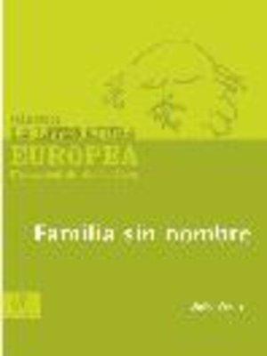 cover image of Familia sin nombre