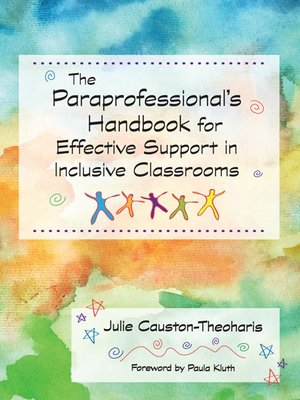 cover image of Paraprofessional's Handbook for Effective Support in Inclusive Classrooms