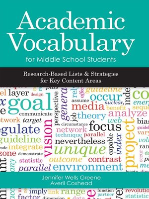 cover image of Academic Vocabulary for Middle School Students