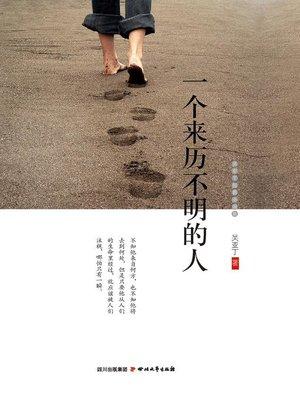 cover image of 一个来历不明的人