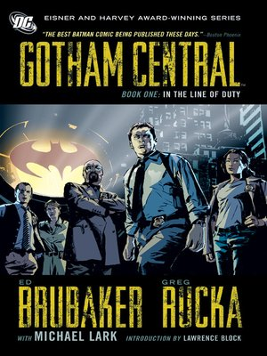 cover image of Gotham Central, Book One