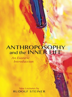 cover image of Anthroposophy and the Inner Life