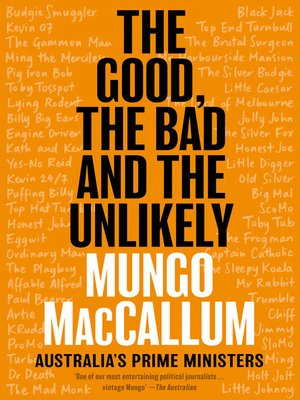 cover image of The Good, the Bad and the Unlikely