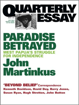cover image of Quarterly Essay 7 Paradise Betrayed