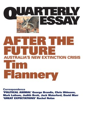 cover image of Quarterly Essay 48 After the Future