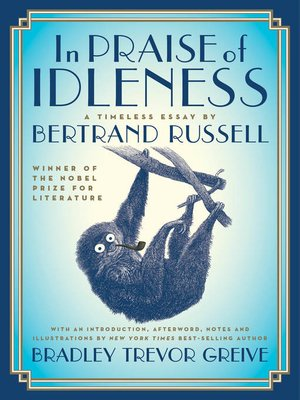 cover image of In Praise of Idleness
