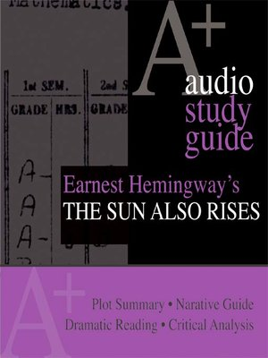 cover image of Ernest Hemingway's The Sun Also Rises