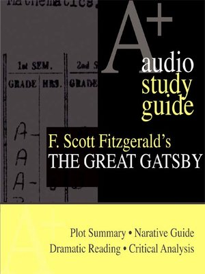 cover image of F. Scott Fitzgerald's The Great Gatsby
