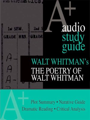 an analysis of walt whitman and humanity Walt whitman's preface to the 1855 edition of leaves of grass, now  poetry's  denunciation of the human behind the words is its dangerous (and, likely for   mean that we lose sight of the meaning embodied in the language.