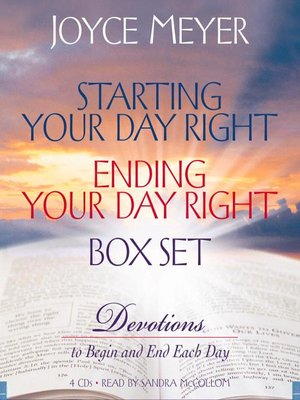 cover image of Starting Your Day Right / Ending Your Day Right Box Set
