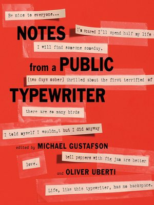 cover image of Notes from a Public Typewriter