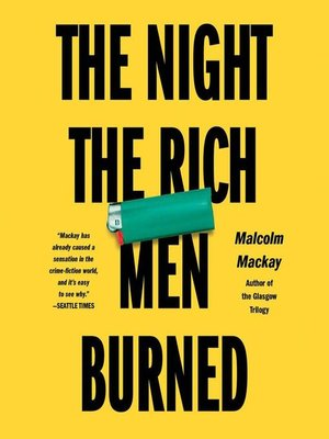 cover image of The Night the Rich Men Burned